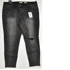 Kensie Jeans Effortless Ankle Mid-Rise Black